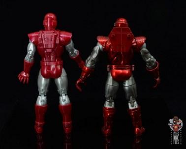 marvel legends silver centurion iron man figure review -rear with toy biz silver centurion iron man