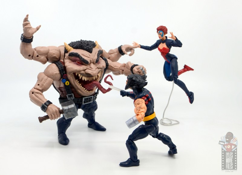 marvel legends sugar man build-a-figure review -vs weapon x and jean grey