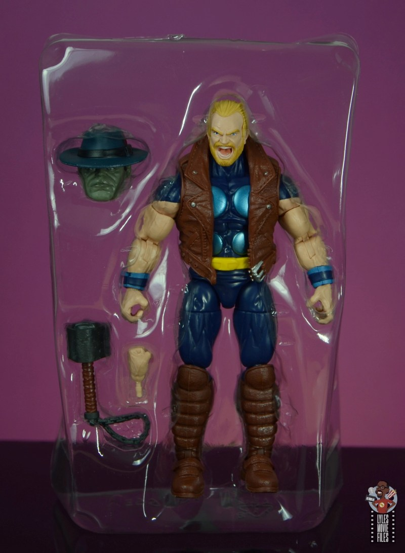 marvel legends thunderstrike figure review - accessories in tray