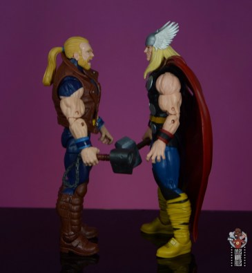 marvel legends thunderstrike figure review -facing thor