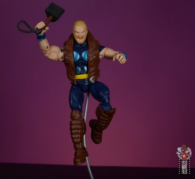 marvel legends thunderstrike figure review - landing