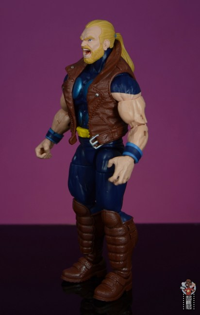 marvel legends thunderstrike figure review - left side