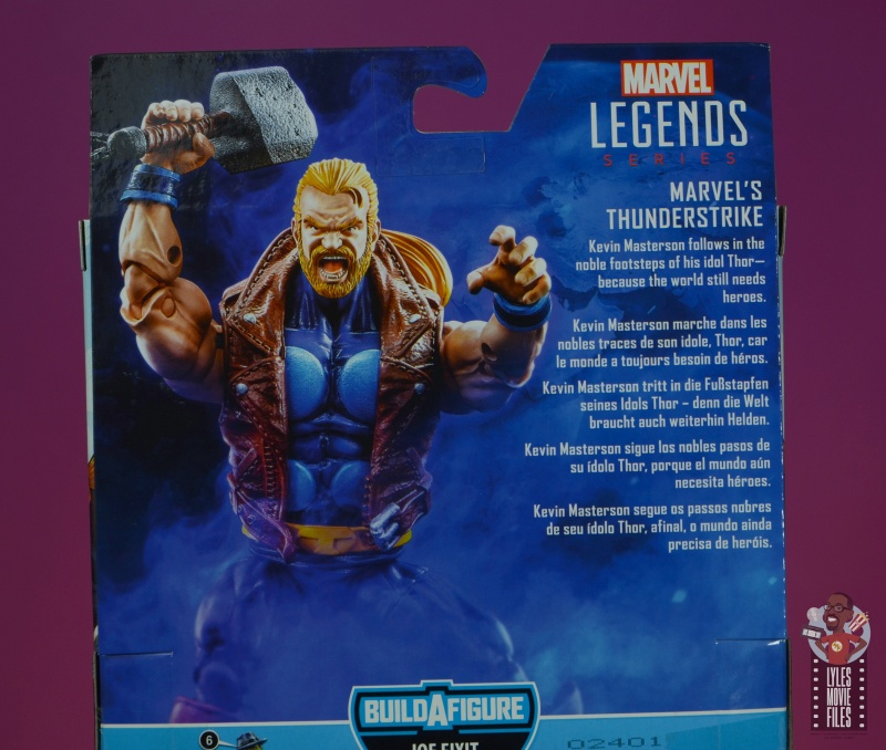 marvel legends thunderstrike figure review - package bio