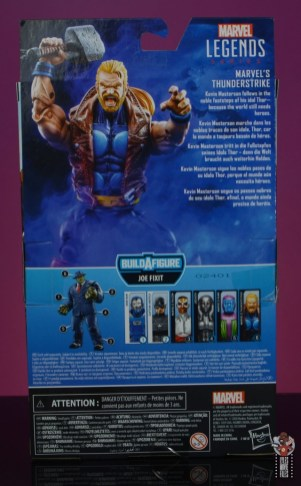 marvel legends thunderstrike figure review - package rear