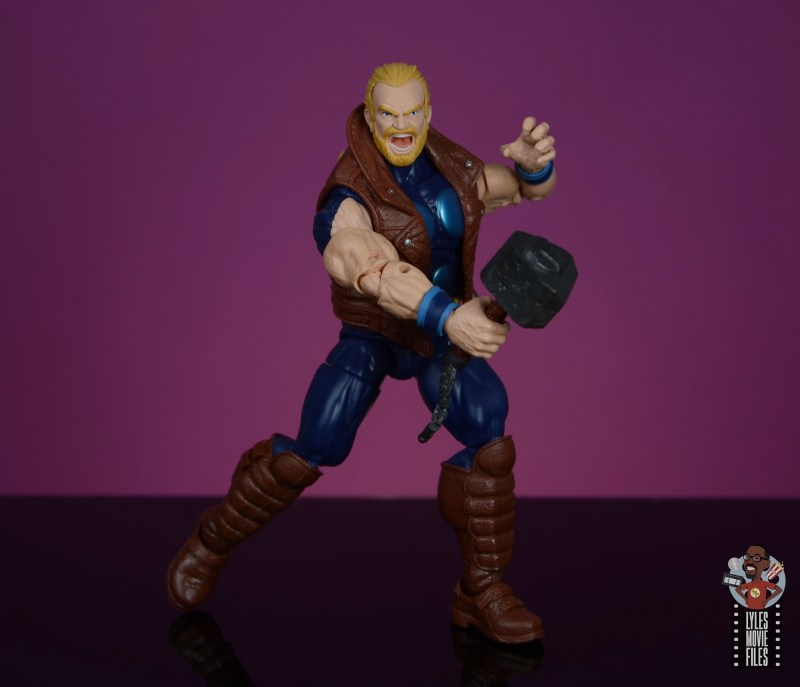 marvel legends thunderstrike figure review - wide battle stance