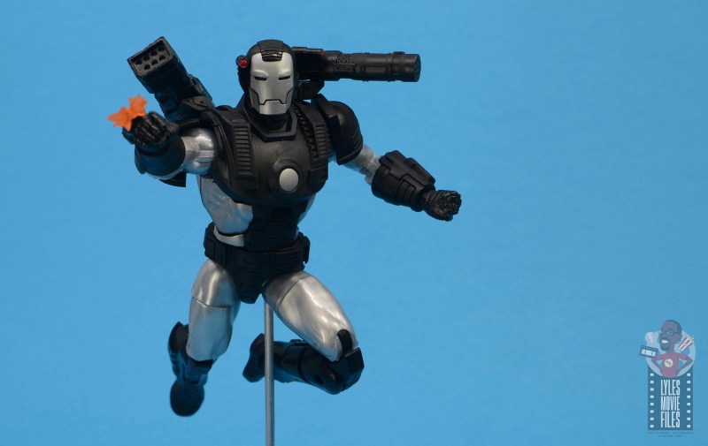 marvel legends war machine figure review - flying