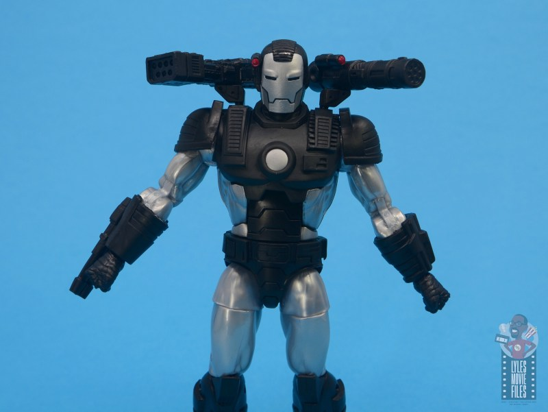 marvel legends war machine figure review - wide shot