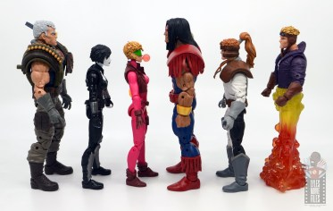 marvel legends warpath figure review - facing cable, domino, boom boom, shatterstar and cannonball