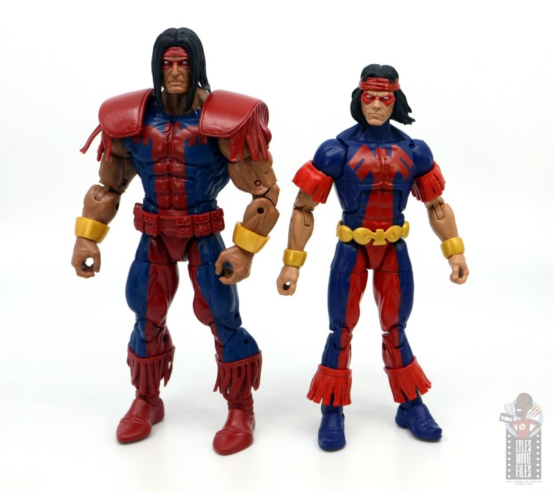 marvel legends warpath figure review - with thunderbird