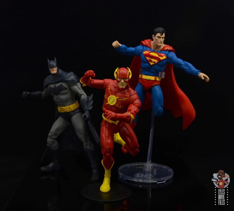 mcfarlane toys dc multiverse the flash figure review - heading into action with batman and superman