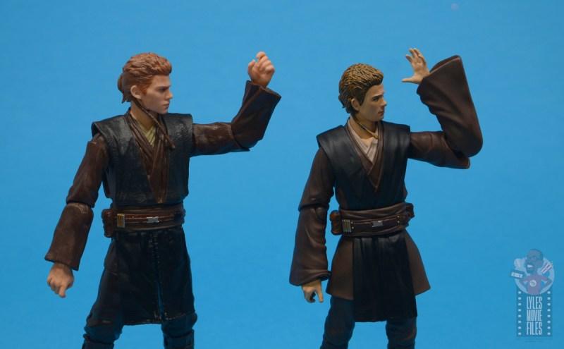 star wars the black series anakin skywalker padawan figure review -elbow range