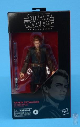 star wars the black series anakin skywalker padawan figure review - package front