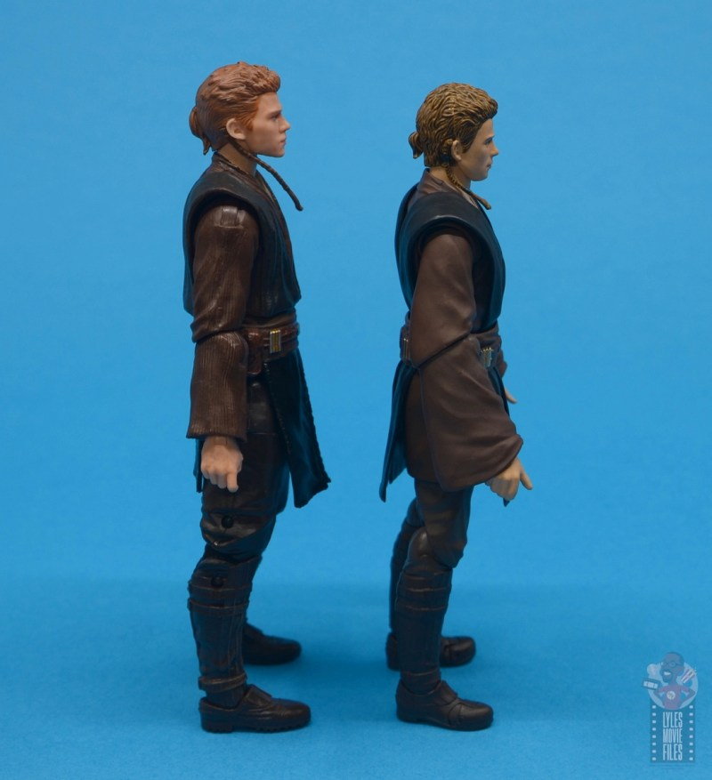 star wars the black series anakin skywalker padawan figure review -right side with sh figuarts