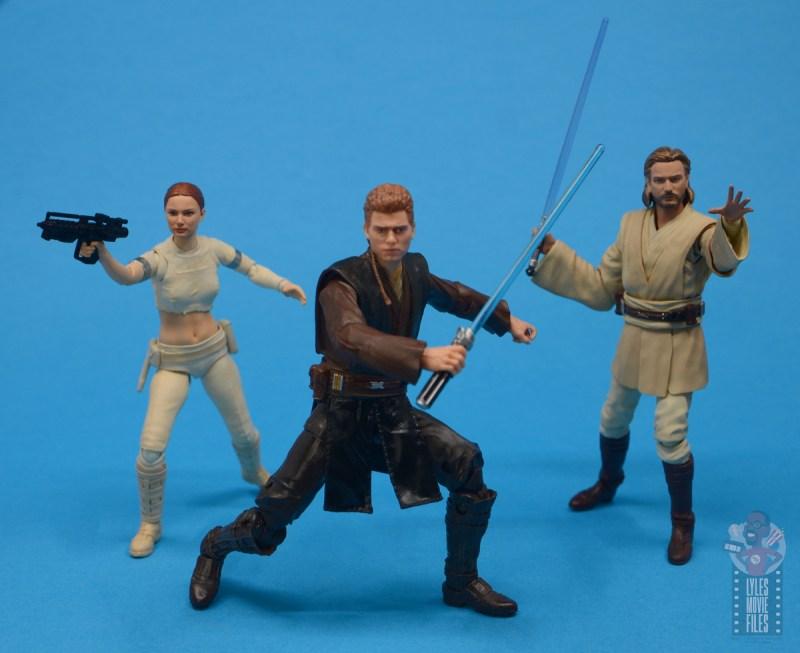 star wars the black series anakin skywalker padawan figure review - with padme and obi-wan kenobi