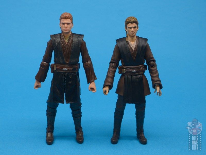 star wars the black series anakin skywalker padawan figure review - with sh figuarts anakin skywalker