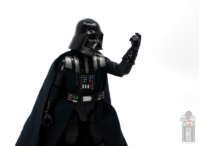 star wars the black series darth vader figure review - choke hand up