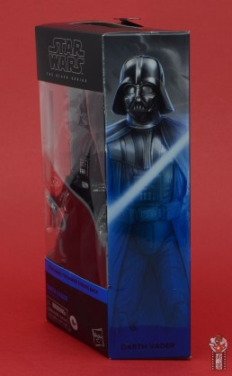 star wars the black series darth vader figure review - package left side