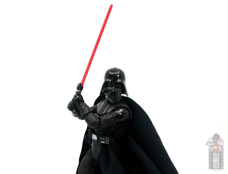 star wars the black series darth vader figure review - raising lightsaber