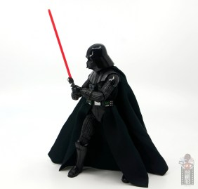 star wars the black series darth vader figure review - side stance