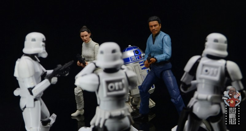 star wars the black series lando calrissian empire strikes back figure review - with leia and r2d2