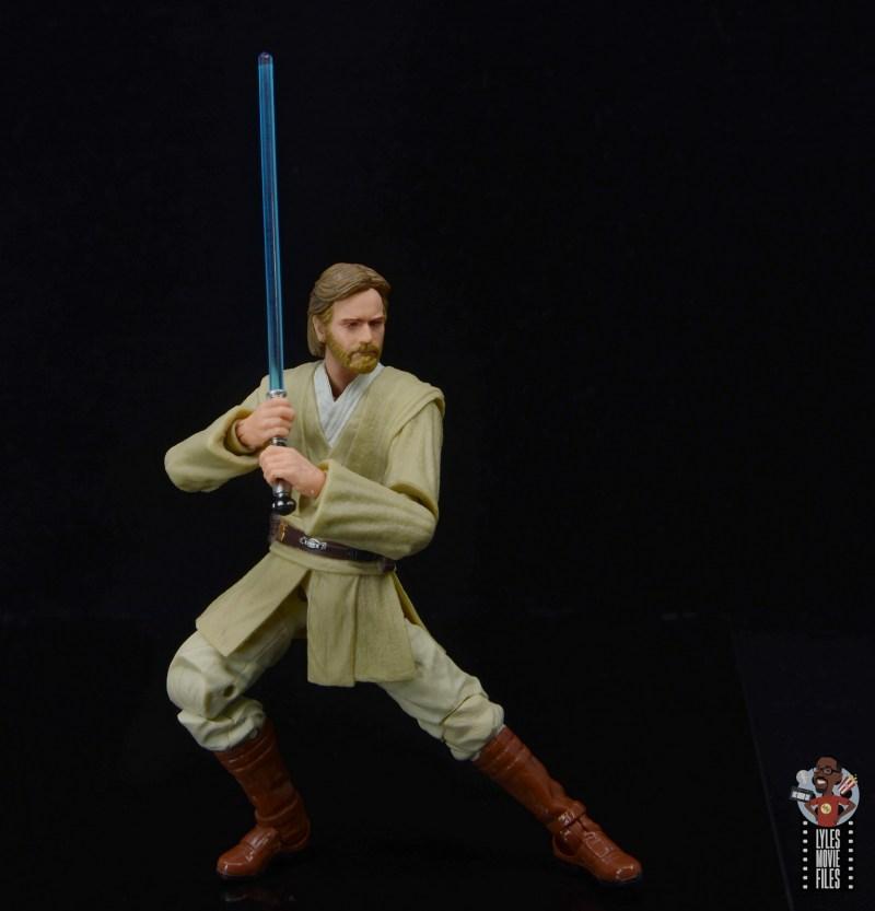 star wars the black series obi-wan kenobi figure review - deep saber stance