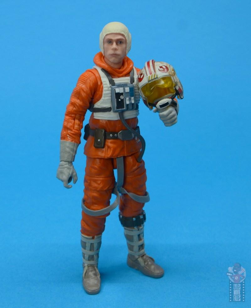 star wars the black series snowspeeder luke skywalker figure review -holding helmet