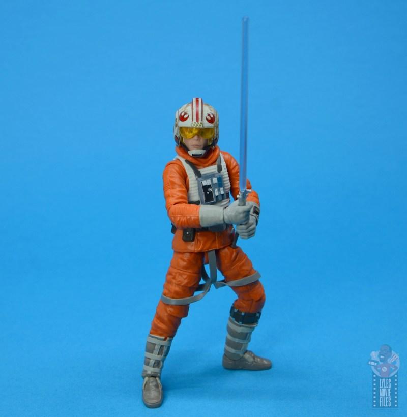 star wars the black series snowspeeder luke skywalker figure review -holding lightsaber