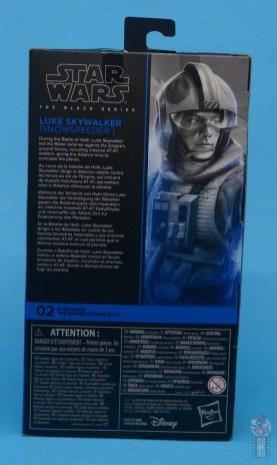star wars the black series snowspeeder luke skywalker figure review -package rear