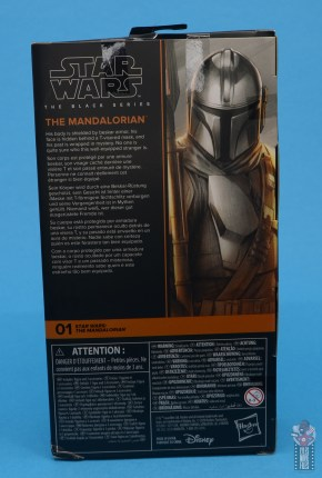 star wars the black series the mandalorian beskar armor figure review - package rear