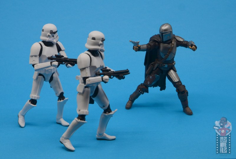 star wars the black series the mandalorian beskar armor figure review - vs stormtroopers