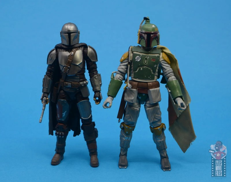 star wars the black series the mandalorian beskar armor figure review - with boba fett