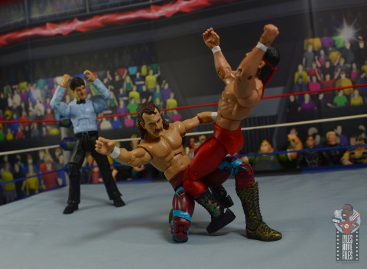 wwe legends 8 jake the snake roberts figure review - atomic drop to ricky steamboat