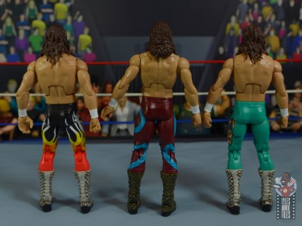 wwe legends 8 jake the snake roberts figure review - with other jakes rear