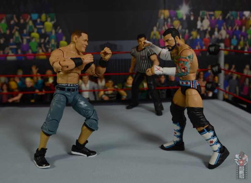 wwe ultimate edition john cena figure review - face off with cm punk