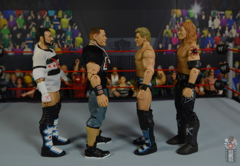 wwe ultimate edition john cena figure review - facing cm punk, jericho and edge
