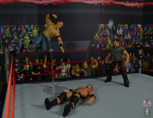 wwe ultimate edition john cena figure review - flying fist drop to triple h