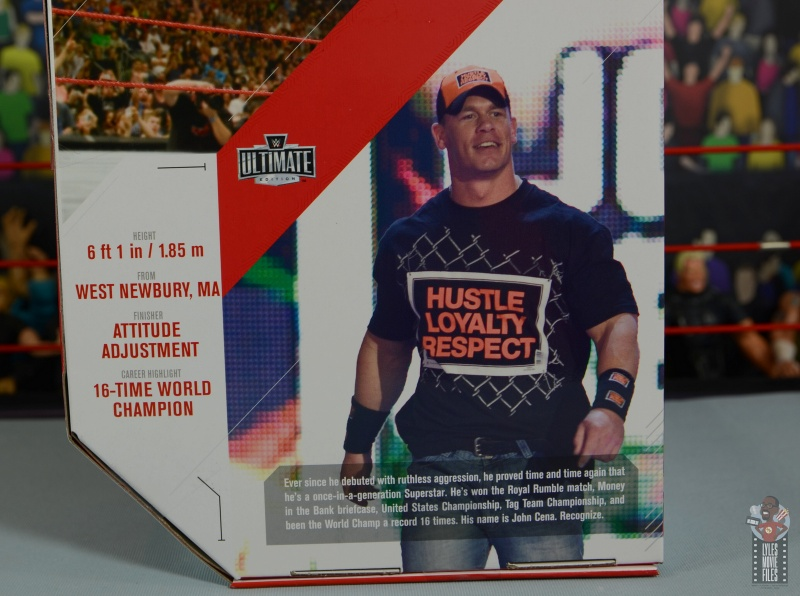 wwe ultimate edition john cena figure review -package bio