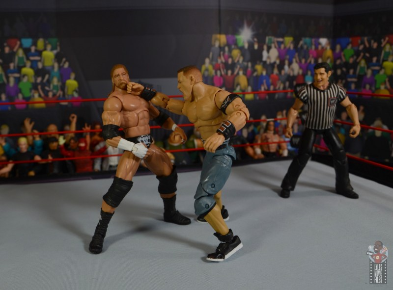 wwe ultimate edition john cena figure review - punching triple h