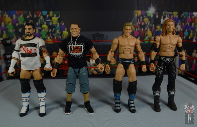 wwe ultimate edition john cena figure review - scale with cm punk, jericho and edge