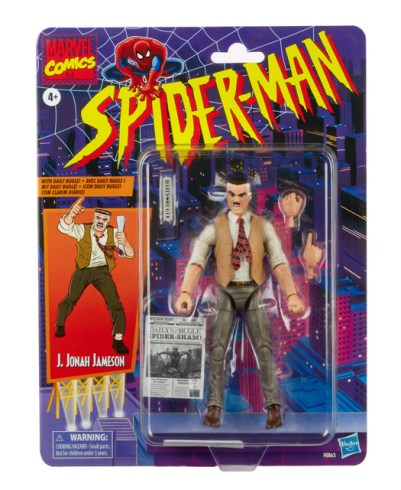 MARVEL LEGENDS SERIES 6-INCH-SCALE J. JONAH JAMESON RETRO COLLECTION Figure in pck
