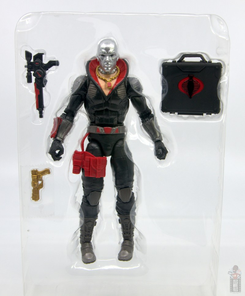 gi joe classified series destro figure review -accessories in tray