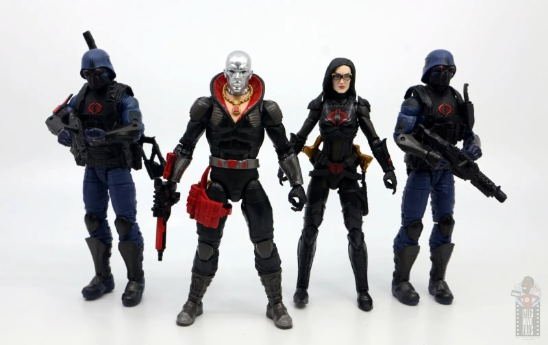 gi joe classified series destro figure review -scale with cobra troopers and baroness