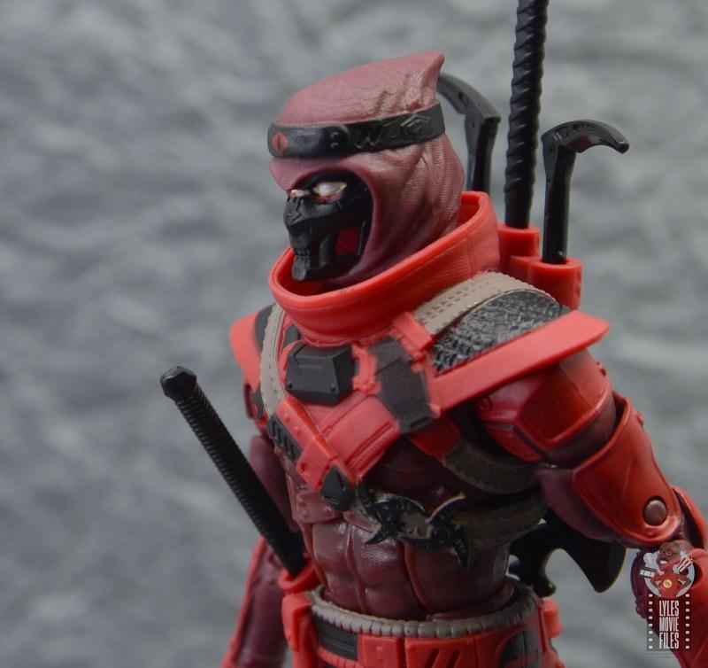 gi joe classified series red ninja figure review - mask and plating detail