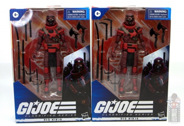 gi joe classified series red ninja figure review - package front