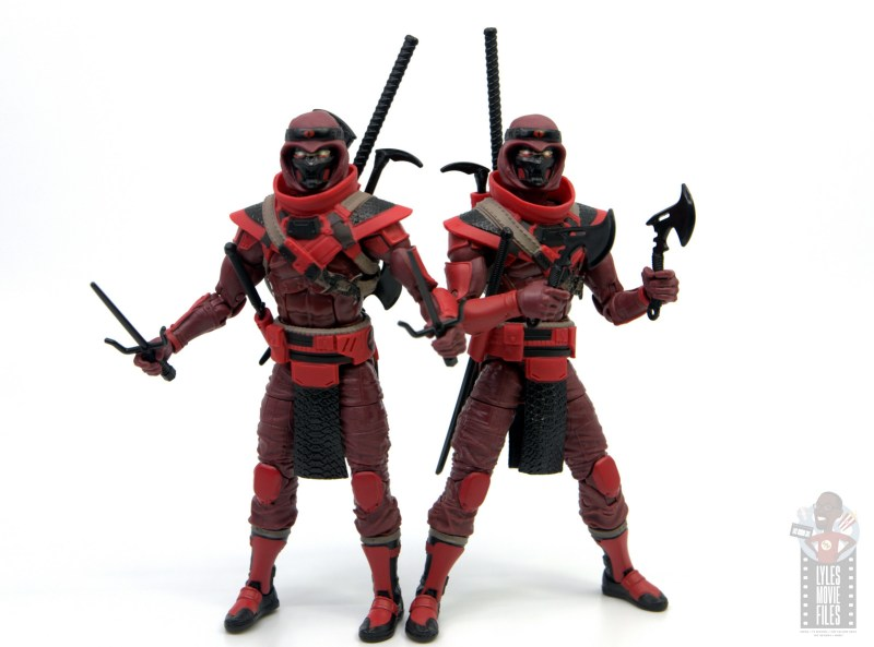 gi joe classified series red ninja figure review - side by side