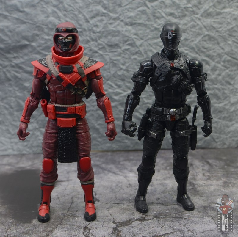 gi joe classified series red ninja figure review - with snake eyes front