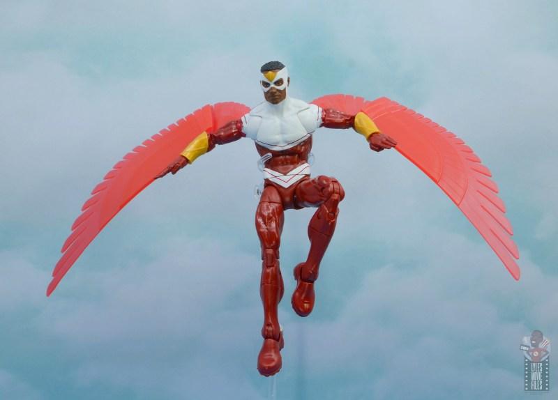 marvel legends falcon figure review -landing