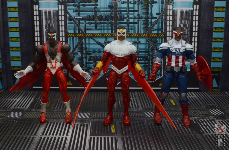 marvel legends falcon figure review - with toy biz and hasbro falcon