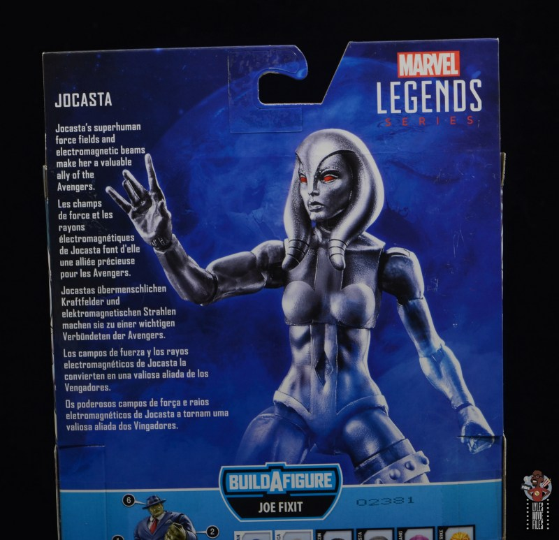 marvel legends jocasta figure review - package bio