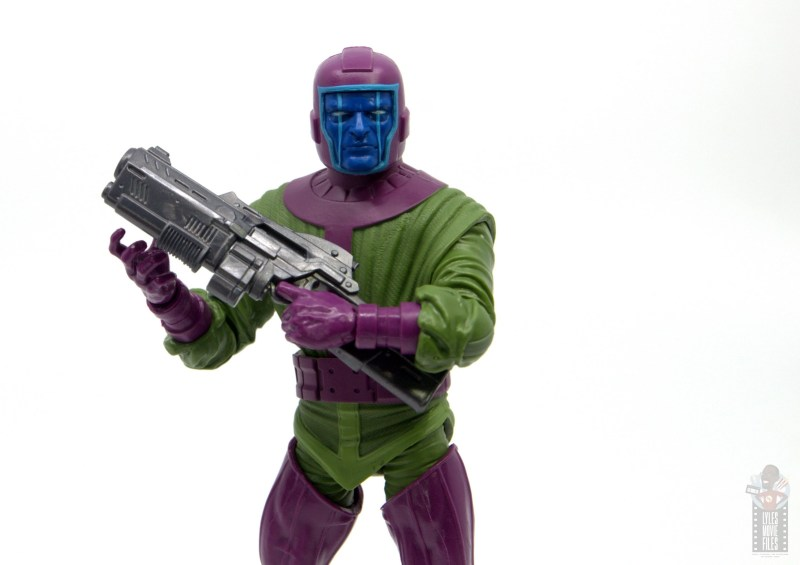 marvel legends kang figure review - cradling gun